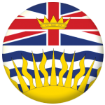 British Columbia Province Flag 58mm Mirror